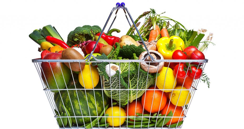 飮食療法(濟陽式):大量攝取新鮮的蔬菜和水果